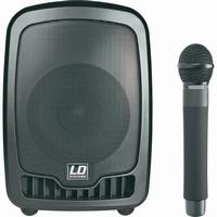 LD Systems mobiele PA luidspreker + microfoon